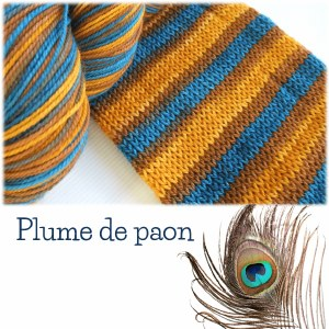 Bis-sock - Peacock Feathers