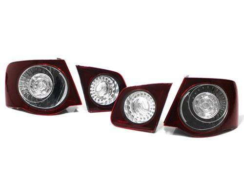 MK5 Jetta Sedan Taillights Dark Red LED (EMO-5040)