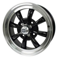 GT-8 Wheel Black/Polished Lip 4/130 (EP00-9682)