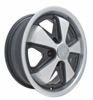 Alloy 911 Wheel 5/112 Blk/Slv