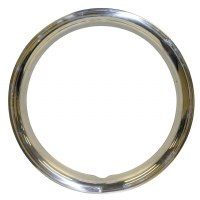 "Beauty Rings For 15"" Wheels - Stainless Steel Set"