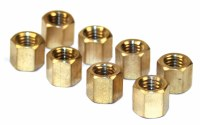 Exhaust Nuts. Brass. Set of 8