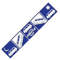 Westy Traveler Decal Blue