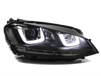 MK7 Double-U Headlights BLK