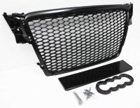 Audi A4 B8 RS4 Grill Gloss Black