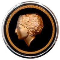 Flat-4 Golden Lady Horn Button