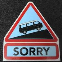 Decal - Sorry - Van