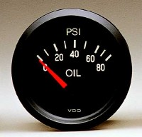 Oil Pressure Gauge 80psi VDO