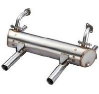 V.S. Muffler 25/36hp Dual Thru Exit & Heat Risers (VSD15520105200H)
