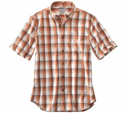 Men's Essential Plaid Button-Down Short-Sleeve Shirt