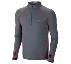 Men's Baselayer Midweight Long Sleeve Half Zip Top
