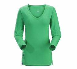 Women's Maple V-Neck Long-Sleeve T-Shirt
