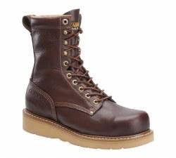 Men's 8-inch Steel Broad Toe Wedge Work Boot