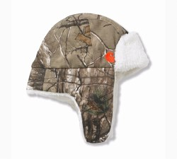 Boy's Camo Bubba  Hat/Sherpa Lined