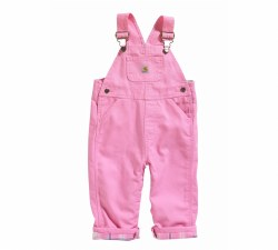 Girls' Flannel Lined Canvas Bib Overalls
