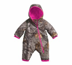 Girl's Camo Snowsuit Qult Taff Lined