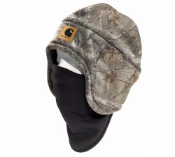 Men's Camo Fleece 2 in 1 Headwear One Size Fits Most
