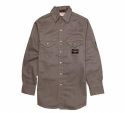 FR Heavyweight Gray Work Shirt - Regular