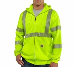 Men's HV Zip-Front Class 3 Sweatshirt