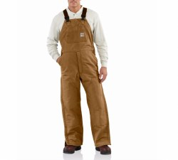 Men's FR Duck Bib Overall/Quilt-Lined