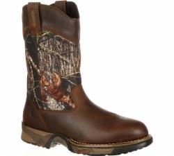 Men's Aztec Camo Pull-On Boots