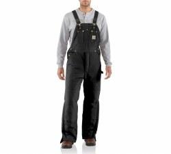 Men's Duck Bib Overall/Arctic Quilt Lined