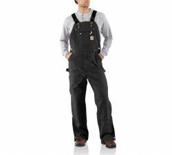 Men's Duck Zip-to-Thigh Bib Overall/Unlined