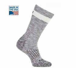 Women's Merino Wool Blend Slub Hiker Crew Sock Medium