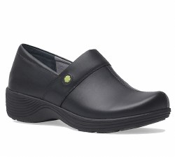 Women's Camellia Black Leather