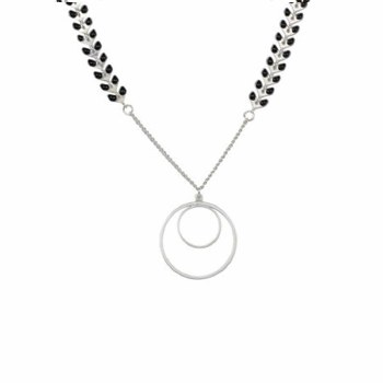 BML 1918 Drop Circle Necklace Gold