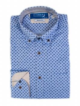 Fishers Plain Button Down Shirt M Blue