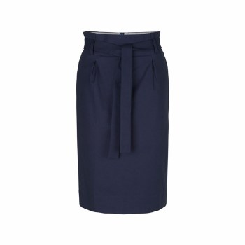 Noa Noa Tie Belt Skirt 10 Navy