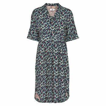 Noa Noa Print Dress 14 Green