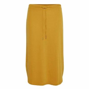 Part Two Merle Light Jeresy Skirt M Yellow
