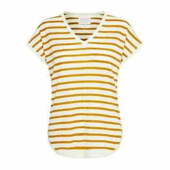 Part Two Signe Linen T-Shirt S Yellow
