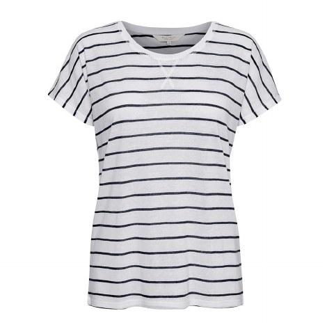 Part TWo Kato Stripe T-Shirt L Dark Blue