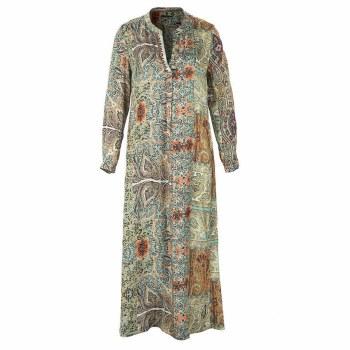 Riverwoods Long Print Dress 10 Green