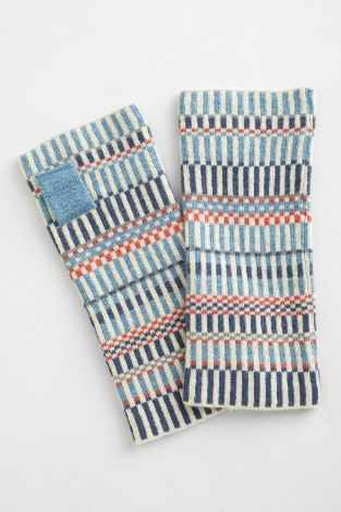 Seasalt Malva Fingerless Gloves Monty Blue