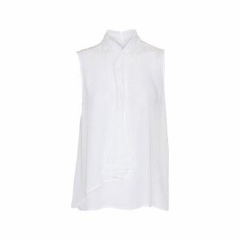 Soya Concept Sleeveless Tie Top 18 White