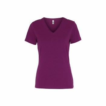 Soya Concept V Neck T-Shirt 10 Fuschia