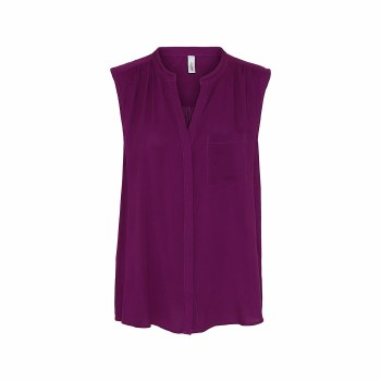Soya Conceot Sleeveless Shirt 16 Fuschia