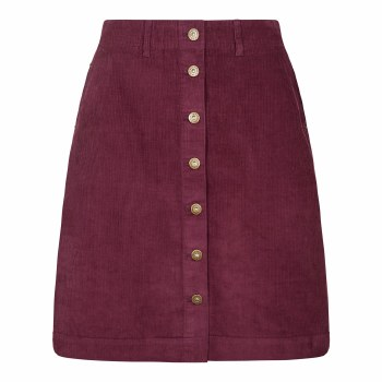 Weirdfish Winny Cord Skirt 14 Purple