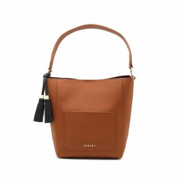 Zohara Open Bucket Bag Tan