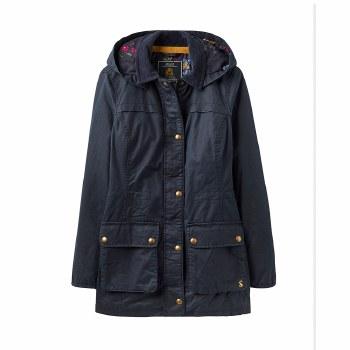 Joules Daubenay Faux Wax Jacket with Hood 14