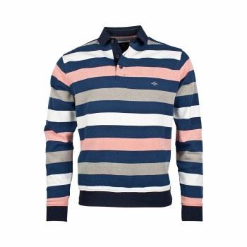 Baileys Button Neck Sweatshirt L Peach