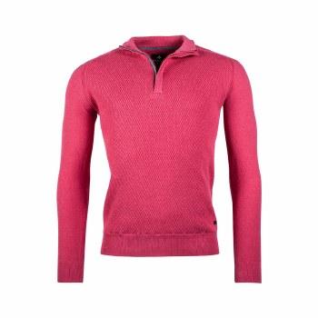 Baileys Textured 1/4 Zip Jumper M Pink