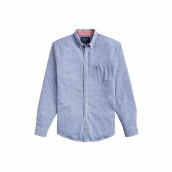 Joules Linen Classic Shirt XXL Blue