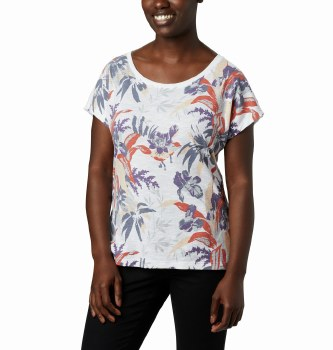 COlumbia High Dune T Shirt S White Leafscape