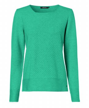 Olsen Square Neck Jumper 16 Green
