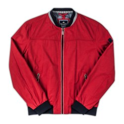 Baileys Light Bomber Jacket M Red